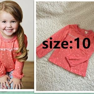 NEW Matilda Jane Coral Star Eisley Top 10Y
